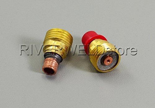 45 V42 0,1 cm 1.0 mm Gaz Objectif Collet Corps, lampe torche TIG SR DB wp9 20 24 25 série, 20 cm