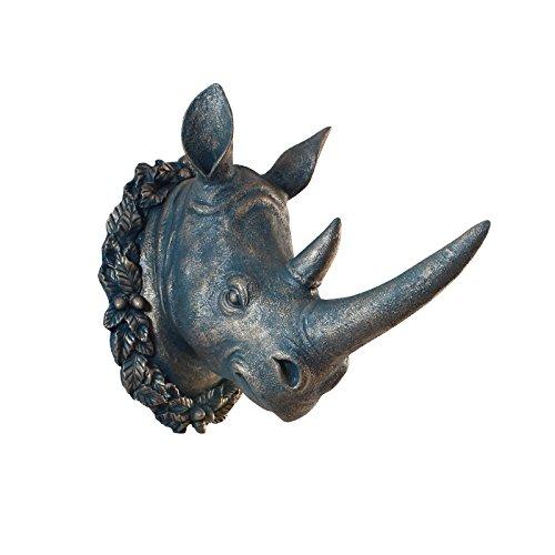 Testa di animale rinoceronte appesa a parete che fa aderire il soggiorno Home Cafe decorazioni e tappezzerie , Coco Lee Bronzo