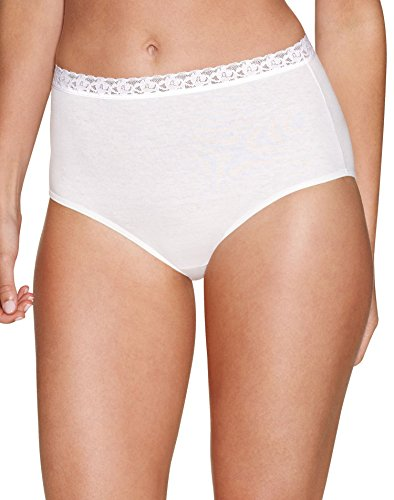 Hanes Women`s Cotton No Ride Up Brief with Lace