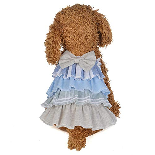 Beagle Baby Kostüm - Jcloris New Rock Haustier Rock Bomei Welpen Kleiner Hund Haustier Kleidung@Blau_L