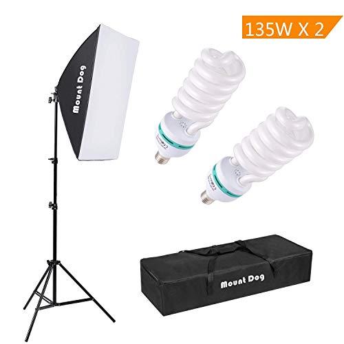 MOUNTDOG 1350W Kit Softbox Fotográfico iluminación