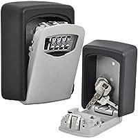 Llaves de pared de exterior seguro caja para llaves clave de almacenamiento organizador caja de cerradura con llave–perfecto para el hogar, Sitios de construcción, comercial, negocios, oficina, al aire libre, policía, acceso de emergencia, casa etc.