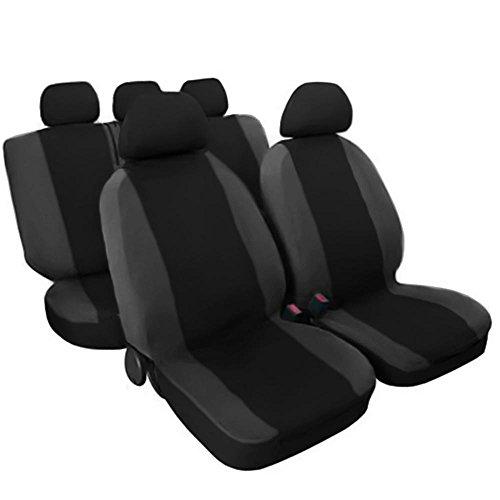 Lupex Shop 17239-01 Schwarz - dunkelgrau Baumwolle Sitzbezüge