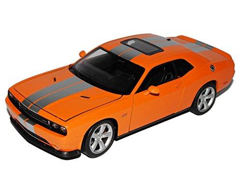 dodge-challenger-srt-coupe-orange-silber-1-24-welly-modell-auto-mit-individiuellem-wunschkennzeichen