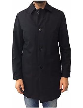 ASPESI cappotto uomo blu tessuto