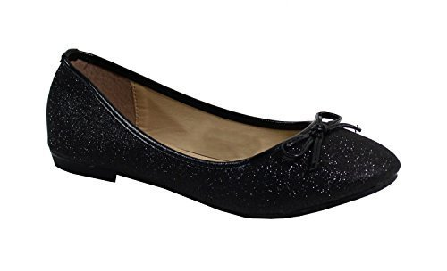 By Shoes - Ballerine Plate Style Pailleté - Femme