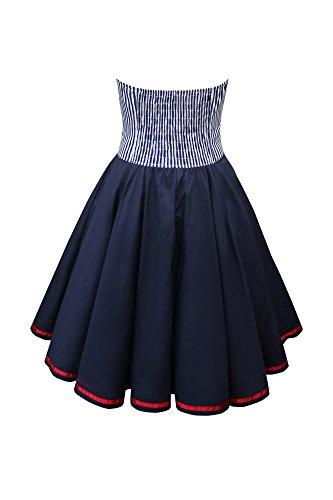BlackButterfly 'Naomi' Vintage Marine Kleid im 50er-Jahre-Stil (Blau, EUR 38 – S) - 2