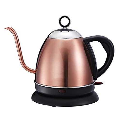 L&Z Wasserkocher, Wasserkocher Teekanne Edelstahl Wasserkocher Schlanker, Goldener Teezubereiter.