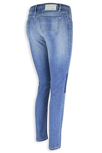 Damen Skinny Jeans Adidas Neo Fashion Jeanshosen Blauen Kontrast Waschen Slim Blau