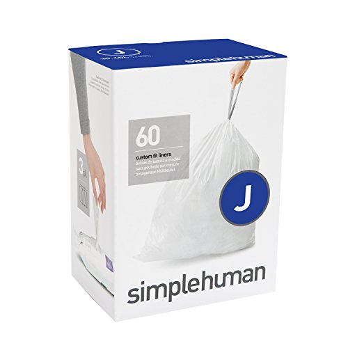 simplehuman Code J, Custom Fit Bin Liners, 60 Liners, for sale  Delivered anywhere in Ireland