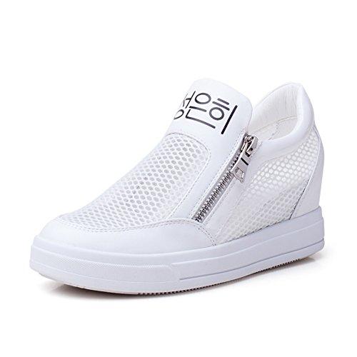 Augmentation femmes maille chaussures/chaussures de loisirs de sport/Chaussures à talons hauts/Petites chaussures blanches/Chaussures de Dame coréen A