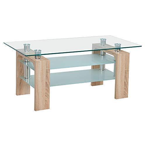 Neo Moderne Eiche Rechteckig Transparentes Glas TV Fernsehen Glas Ständer Tisch Einheit Schrank Ablagefach 3 Ebenen -