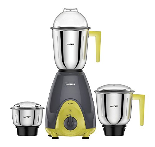 Havells Sprint 500-Watt Mixer Grinder (Grey/Green)