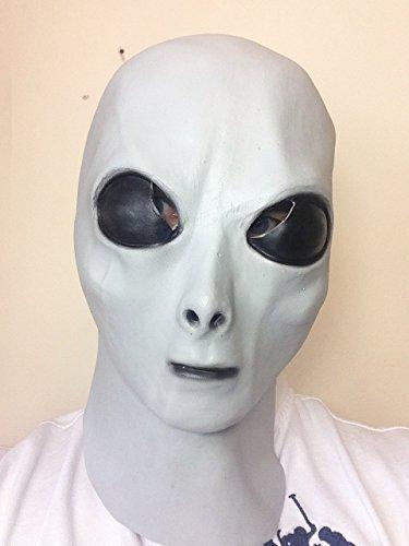 Freaky grau Latex Maske