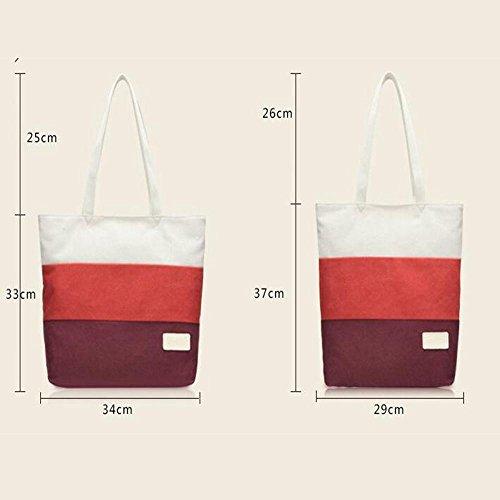 Damenmode Segeltuchtasche Strandtasche Schultertasche Handtasche Messenger bag 4