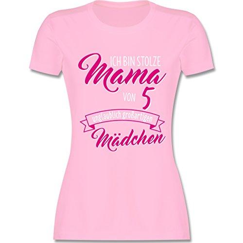 Muttertag - Ich bin stolze Mama von 5 unglaublich großartigen Mädchen - tailliertes  Premium T-