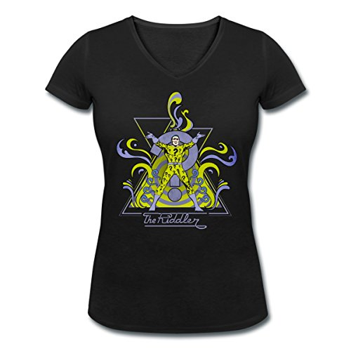 DC Comics Originals Le Sphinx The Riddler T-shirt col V Femme de Spreadshirt®‎ Noir