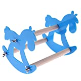 #7: Pet Birds Toy,Parrot Station Stand Rack Acrylic Macaws Chew Swing Toy for Parrot