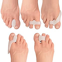 Dr. Fredericks Original 14 Piece Bunion Pad & Spacer Kit - 7 Pairs of Soft Gel Toe Separators & Bunion Cushions - One Size Fits All Bunions Treatment - Fast Bunion Relief - Wear with Shoes...
