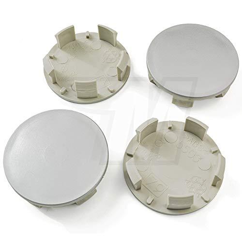 MYBA-S Lot de 4 Cache-moyeux pour moyeu 54,5 mm/50 mm