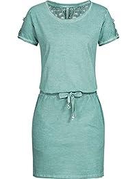 09580760850d Stitch   Soul Damen Jersey Kleid LSS-060 LSS-076 Häkelspitze Knielang