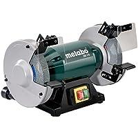 Metabo DS 175 - Esmeriladora doble (discos de 175 mm, entrada de 500 W, salida de 310 W) color plateado y verde