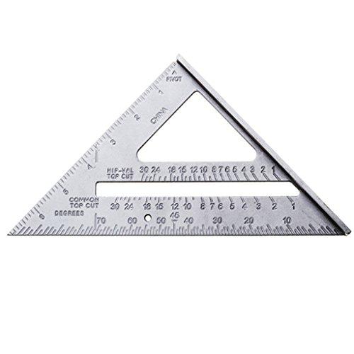 Yinew Aluminium Legierung Dreieck Lineal Winkelmesser Messwerkzeug