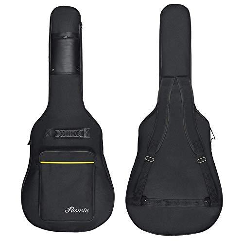Faswin 41 zoll Gig Bag für Kassikgitarre, Gitarrentasche, Gitarrenhülle, schwarz, reißfest und wassergeschützt