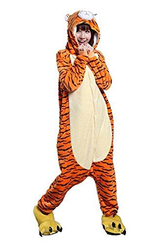Familie Tiger Kostüm - Missley Einhorn Pyjamas Kostüm Overall Tier Nachtwäsche Erwachsene Unisex Cosplay (S, Jumping Tiger)