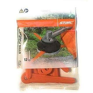 Stihl Kunststoffmesser Klingen Messer für PolyCut 7-3, 27-3, 47-3 12 Stück orange