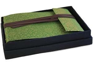 Sari Small Olive Handbound Photo Album (16cm x 22cm)