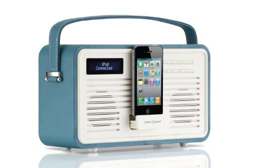 VQ (Vormals View Quest) CGDAB-30-TL Retro ColourGen DAB+ Radio mit 30-polig Dock blau/grün
