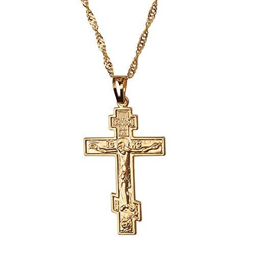 Kostüm Der Ukraine - Russisch-orthodoxe Christentum Kirche Ewige Kreuz Charms Anhänger Halskette Schmuck Russland Griechenland Ukraine Geschenke 45cm
