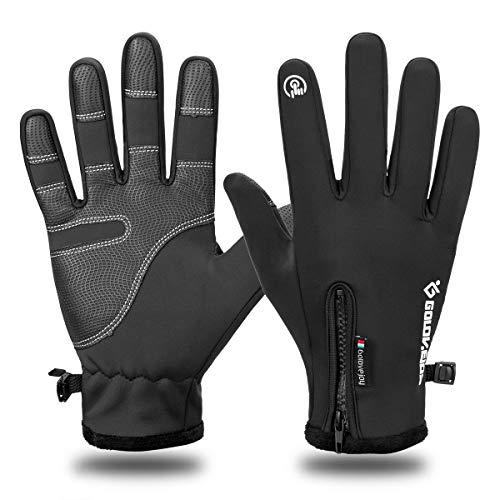 LATEC Guanti Touch Invernali per Smartphone Impermeabili Termici Antiscivolo per attività all'Aperto, Running, Trekking, Sci e Ciclismo per Uomo e Donna(Un Paio)