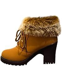 Botines Tacon de Cuña para Mujer Zapatos Plataforma por ESAILQ G