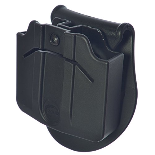 ORPAZ Defense Tactical adjustable 360 rotation, retention Double Magazine Pouch Paddle holster for Steel mags fits S&W SERIES 40-59-69 / S&W SW99 9-40 TAURUS 92-100 / TAURUS PT909 -9 / Taurus PT800 Series 9-40 -