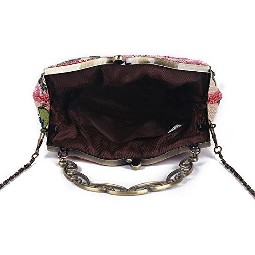 YYW Vintage Clutch Bag, Poschette giorno donna Blue