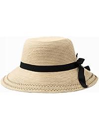 AN Sombrero Femenino Sombrero del Sol del Verano arqueamiento Sombrero de Paja  Sombrero de la Personalidad 7f9f67eefab