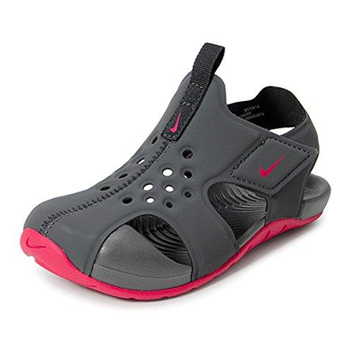 Nike Unisex-Kinder Sunray Protect 2 (td) Sport Sandalen Mehrfarbig (Anthracite/Rush Pink 001) 26 EU