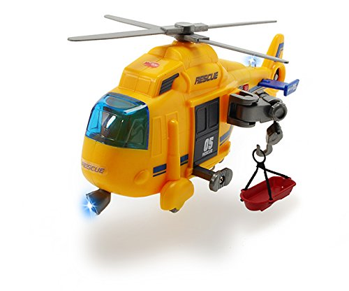 Dickie Toys 203302003 - Action Series Rescue Copter, Rettungshelikopter inklusive Batterien, 18 cm - 2