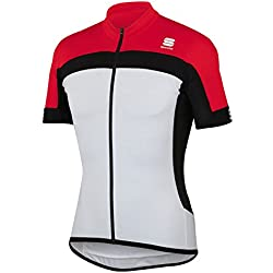 Sportful Maillots Pista Long Zip White/Red M