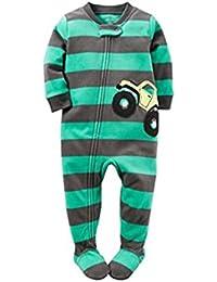46e73494b7 Carter's Schlafanzug Fleece Einteiler Junge Boy warm Weich Winter  Reißverschluss (104/110, ...