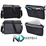 Black & Imperial Grey Laptop Shoulder Bag for Toshiba: Portege: Kirabook: Ultrabook: Touchscreen:R705-ST2N03, R705-ST2N04, Z835-P330, Z835-P360, Z835-P370, Z835-P372, Z835-SP3201M, Z835-SP3202M | Compatible with most Devices up to 12.6""