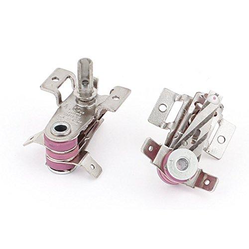 AC 250V / 125V 16A Bimetallic Einstellbare Thermostat Heizung Limiter 2ST