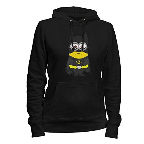 Fashionalarm Damen Kapuzen Pullover - Bat-Man Min. Parodie   Fun Hoodie als Geschenk Idee für Superhelden Fans, (Superheld Kostüm Ideen Große)