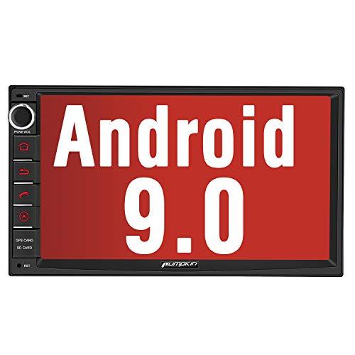 PUMPKIN Android 9.0 Autoradio Radio mit GPS Navi Unterstützt Bluetooth DAB + USB Android Auto WiFi 4G MicroSD 2 Din 7 Zoll Bildschirm