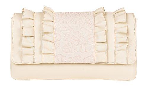 L' italiano, Borsa a tracolla Fashion da farfalla Bianco