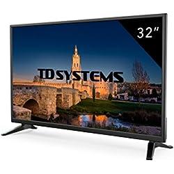 """TD Systems K32DLM7HTéléviseur LED HD avec 3x HDMI, VGA, Lecteur et enregistreur multimédia, 2 x USB 81 cm (32"""") Noir"""