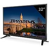 """TD Systems K32DLM7H - Televisor LED de 32"""" (HD, 3X HDMI, VGA, 2X USB Reproductor y Grabador) Color Negro"""