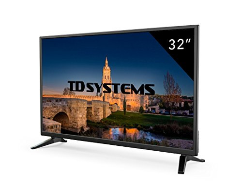 TD Systems K32DLM7H - Televisor LED de 32' (HD, 3X HDMI, VGA, USB Reproductor y Grabador) Color Negro